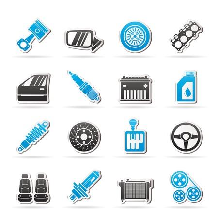 heizk�rper: Detaillierte Autoteilen Icons - Icon-Set