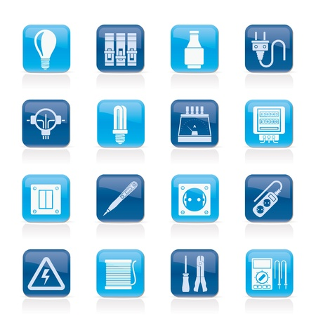 electric meter: Electrical devices and equipment icons - vector icon set