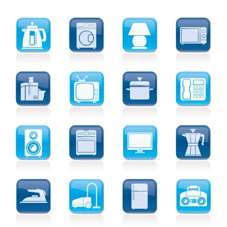 hoover: home equipment icons - vector icon set