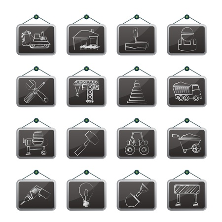 dyeing: Building and construction icons - icon set Illustration