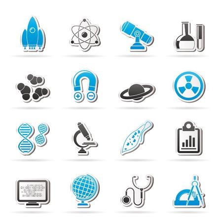 fizika: Tudományos, Kutatási és Oktatási ikonok - vektor Icon set Illusztráció