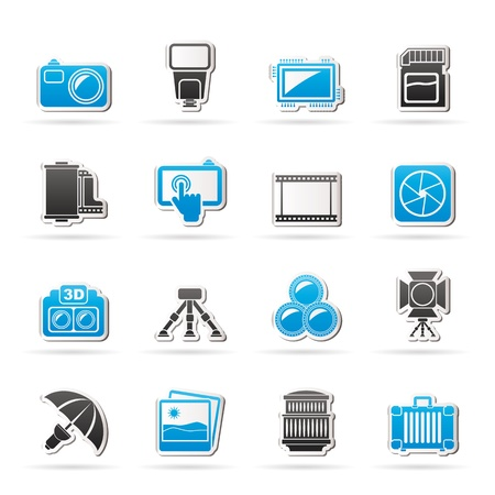 film set: Photography equipment icons