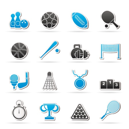 table tennis: Sport equipment icons - vector icon set