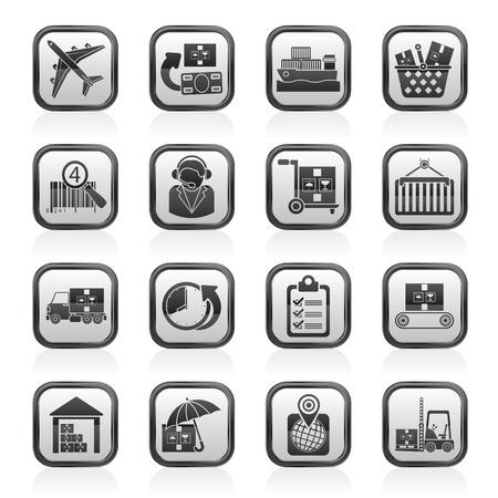 planos electricos: De carga, log�stica y transporte iconos - icono de vector