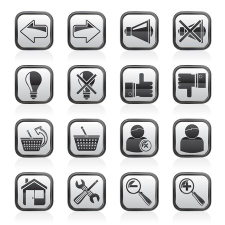 Website and internet icons - vector icon set Vector