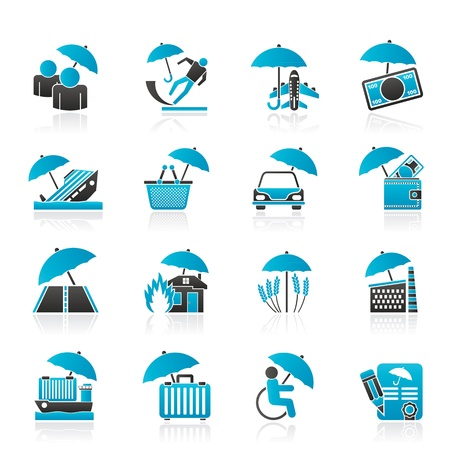 risk and business icons - icon set Vector