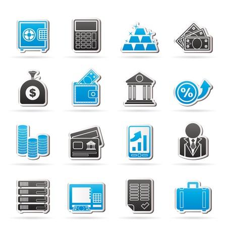 은행 및 금융 아이콘 - 아이콘 설정 일러스트
