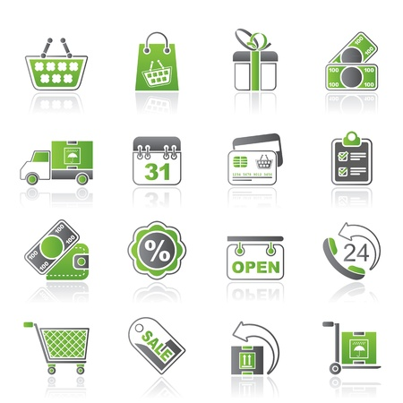 bankcard: Online shop icons - vector icon set Illustration