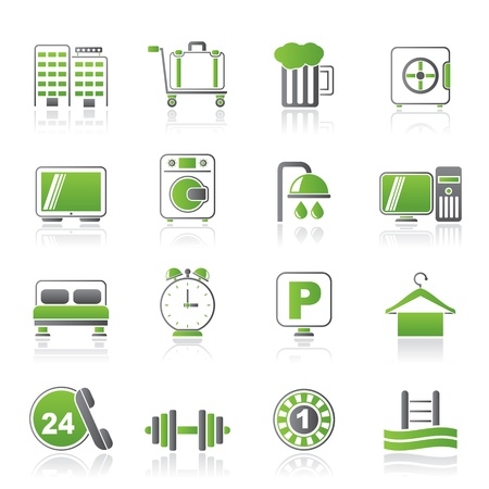 closet communication: Hotel and motel icons - Vector icon Set