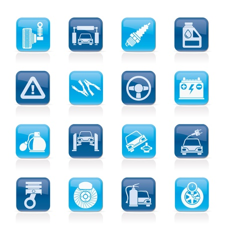 Car and road services icons - vector icon set Stock Vector - 21424573