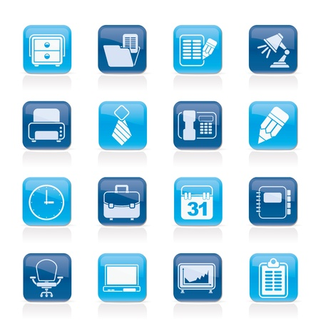 Business and office equipment icons - vector icon set Stock Vector - 21424574