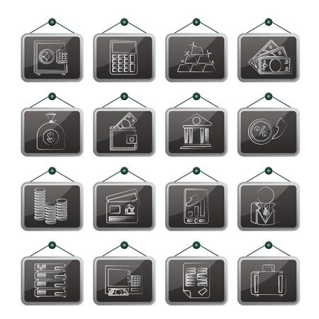 은행 및 금융 아이콘 - 벡터 아이콘 세트