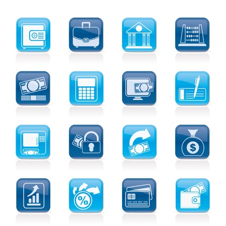 bankcard: Bank, business and finance icons  Illustration