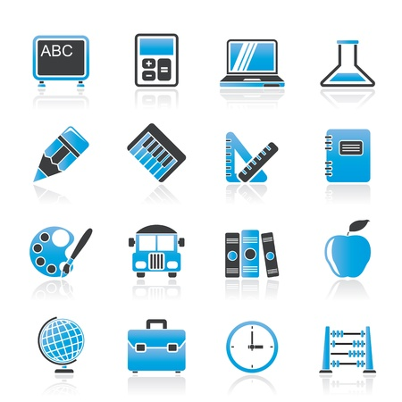 School and education icons Stock Vector - 21926546