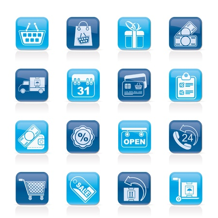 bankcard: Online shop icons