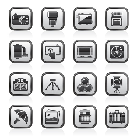 Photography equipment icons Stock Vector - 21926557