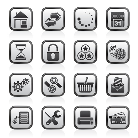 home security: Web Site and Internet icons