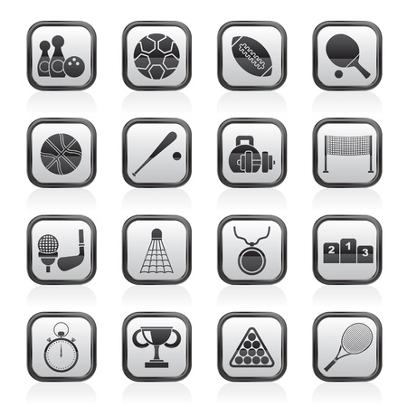 icon buttons: Sport equipment icons