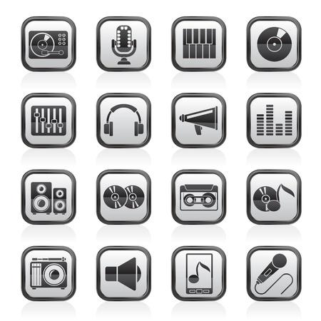 audio: Muziek en audio-apparatuur pictogrammen
