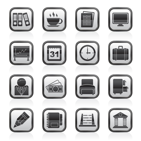 Business and office icons - vector icon set Vector