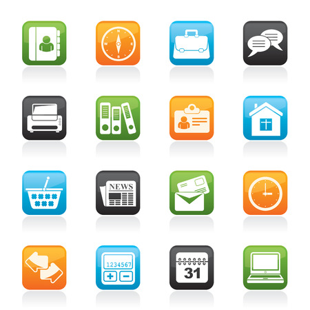 Business and office icons - vector icon set Stock Vector - 23241355