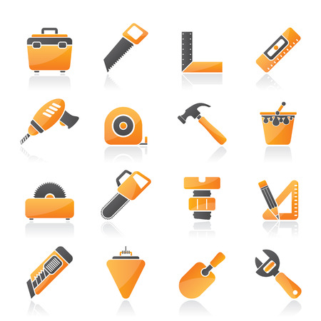 Construction objects and tools icons- icon set Stock Vector - 23654721