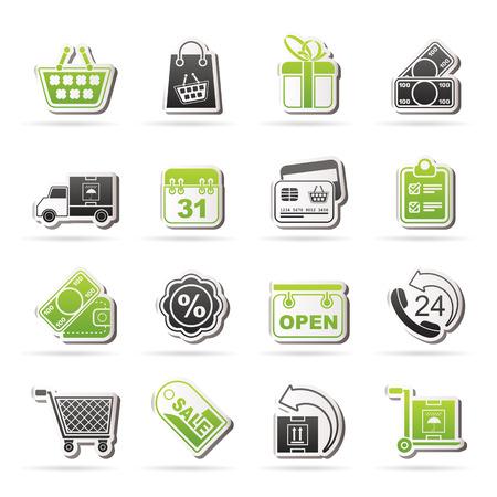 bankcard: Online shop icons - icon set Illustration