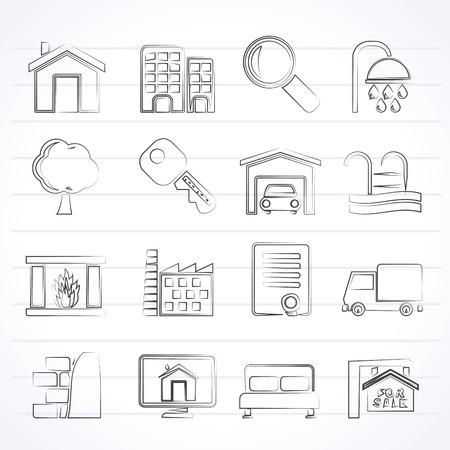 Real Estate Icons - Icon Set Vector
