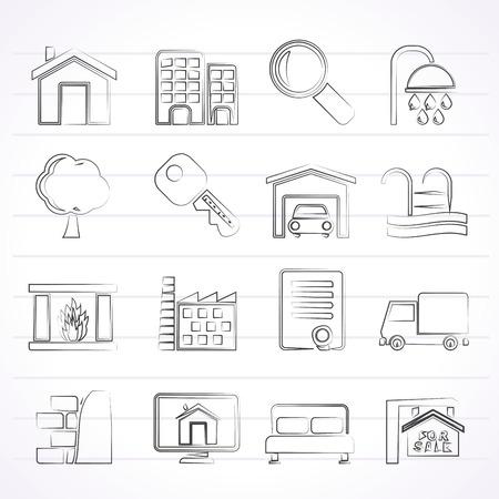 garden key: Real Estate Icons - Icon Set
