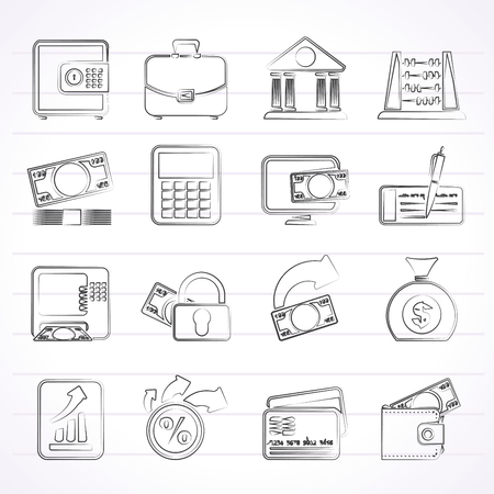 bankcard: Bank, business and finance icons - icon set Illustration