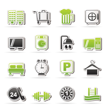 Hotel and motel icons - icon Set Vector