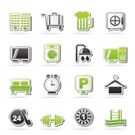 closet communication: Hotel and motel icons - icon Set