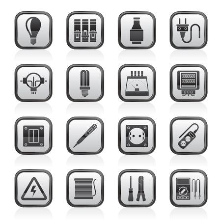 Elektrische apparaten en apparatuur pictogrammen - vector icon set
