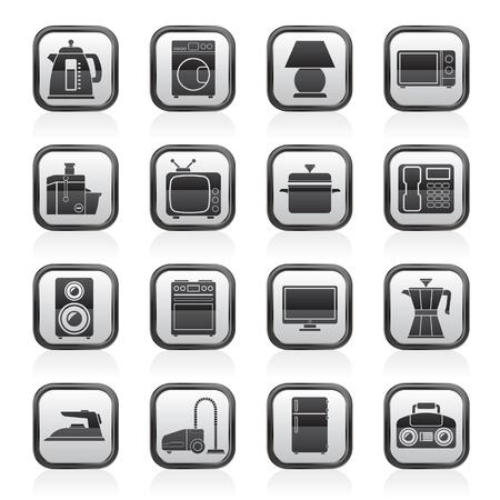 home equipment icons - icon set Illustration