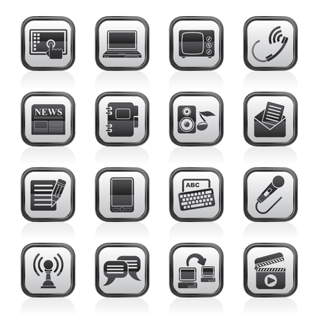 Communication and connection icons - icon set Stock Vector - 23654795