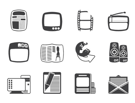 Silhouette Media icons - Icon Set Vector