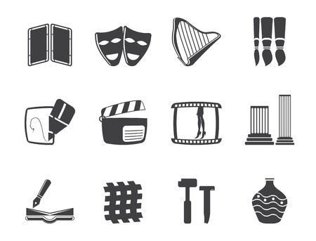 Silhouette different kind of Arts Icons - Vector Icon Set Stock Vector - 23654807