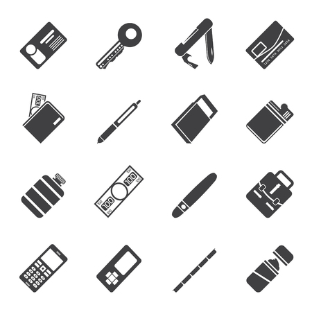 Silhouette Simple Vector Object Icons - Icon Set Vector