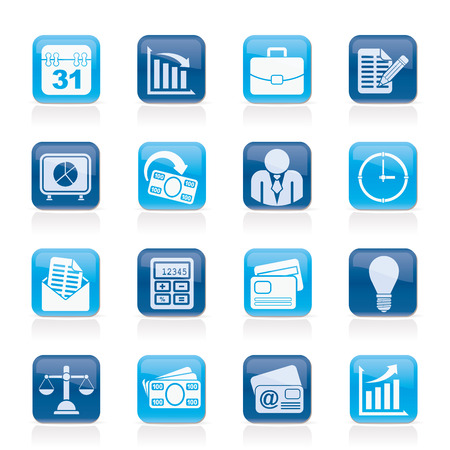 Business and office icons - vector icon set Stock Vector - 23868376
