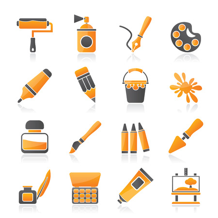 tint: Painting and art object icons - vector icon set