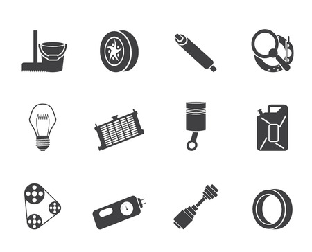 Silhouette Car Parts and Services icons - Vector Icon Set 2 Vector