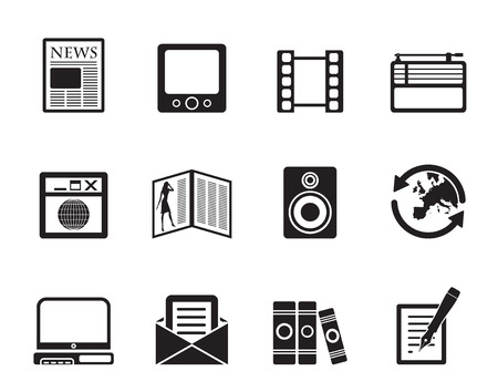 Silhouette Media and information icons - Vector Icon Set  Vector