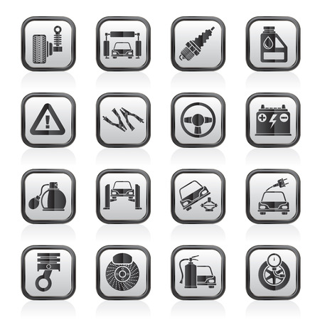 Car and road services icons - vector icon set Vector
