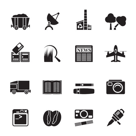 Silhouette  Business and industry icons - Vector Icon set Stock Vector - 25817122
