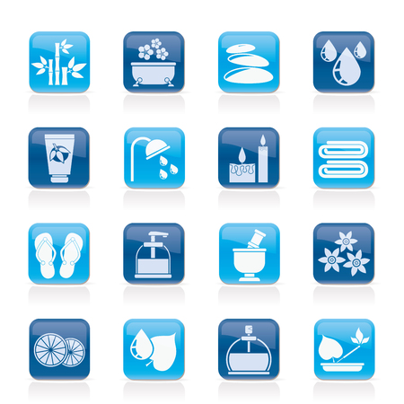 Spa and relax objects icons  Stock Vector - 26082725