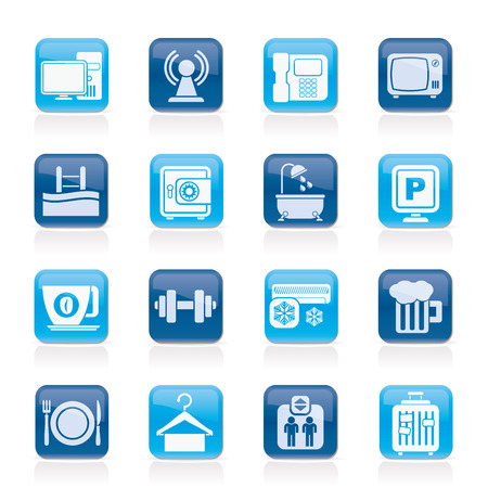 amenities: Hotel Amenities Services Icons