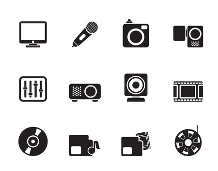 archive site: Silhouette Media equipment icons - icon set