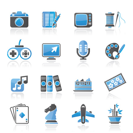 collectibles: Hobbies and leisure Icons - icon set