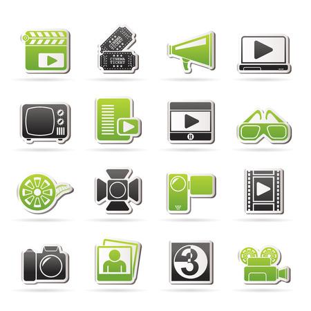 Movie and cinema icons - icon set
