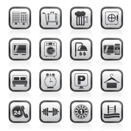 closet communication: Hotel and motel icons - Vector icon Set
